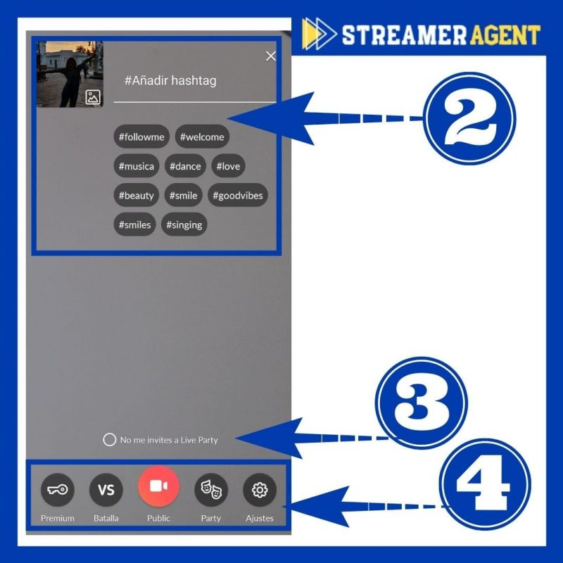 Transmitir en Tango Live - Streamer Agent App